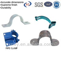 Types of Anodizing powder coating steel wall mount pipe clamp