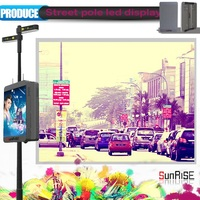 small pitch high frame rate led light display board for City street pole screen Airport with 3G/Wifi/USB
