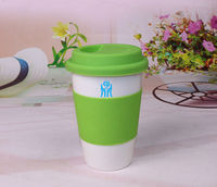 China top ten selling products ceramic mug with silicone accessory