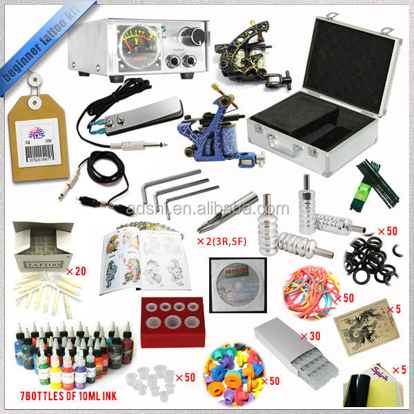 2015 Best Quality Kit Beginner Two guns Tattoo Kit
