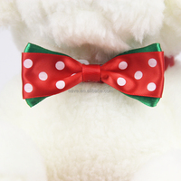 Wholesale Pet Groomings Polka Dots Cheap Bow Ties With Rubber Bands V1240