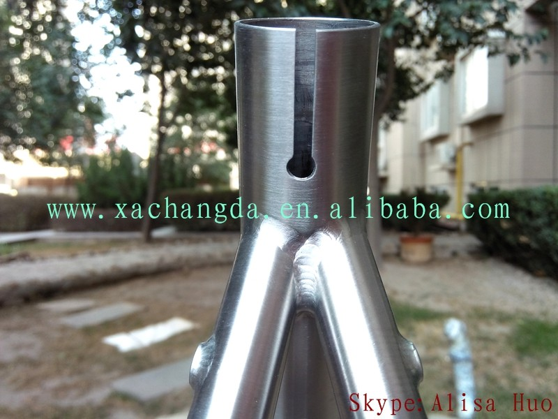 taper head tube titanium touring bike frame made in XACD