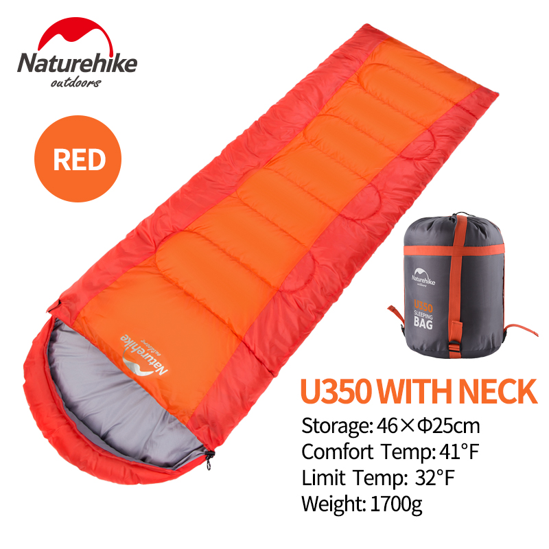 Naturehike U350 inflatable envelope sleeping bag outdoor camping sleeping bag nature hike indoor adullt sleeping bag
