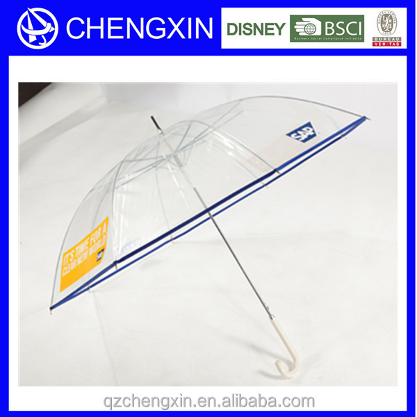 umbrella plastic cover automatic wholesale clear