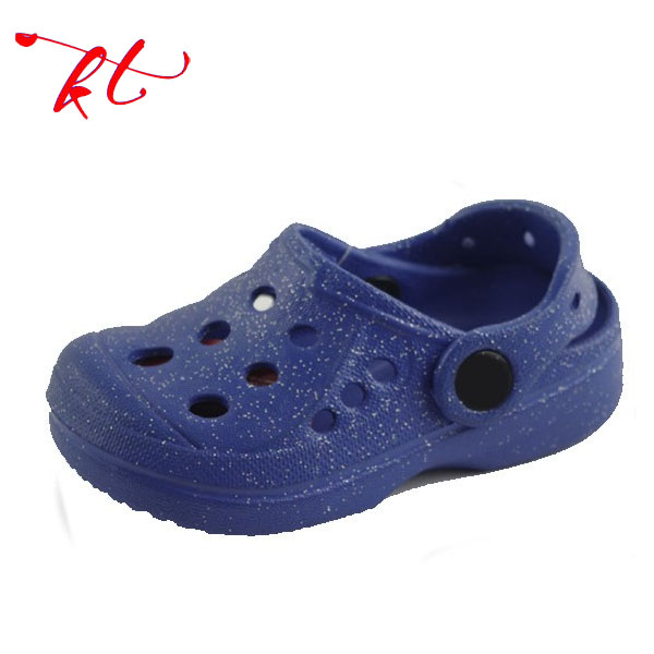 Unique design hot sale plastic garden shoes for kids