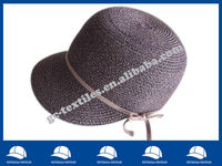 brown fashion straw cap with peak