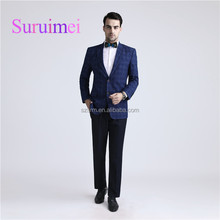 2018 New Arrival Royal Blue Top Brand Coat Pant Men Suit 2 Piece Latest Design Business Suit