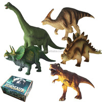 plastic dinosaur animal figure/Various shape Kids wild plastic animals figure for sale /PVC free custom animal toy