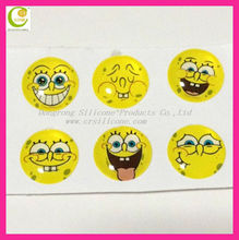 Smile big mouse face hot selling crystal sticker for iphone 4 home button