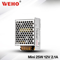 WEHO factory outlet 12v ac to 220v dc mini-size 25w 12v smps