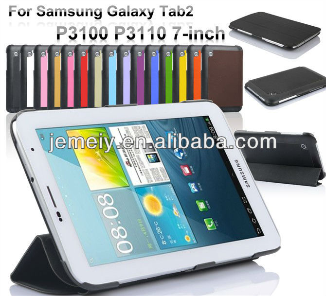 Ultra thin stand smart cover case for Samsung Galaxy Tab2 P3100