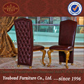 0061 Classic Luxury Gold Leaf guest chair, red leather office rest chair,royall rest chair