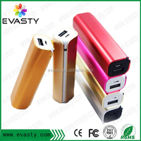 rechargeable lipstick 2600mah mobile power /2600mah power bank /aluminum mobile charger