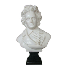Customized pure stone carving beethoven bust stands