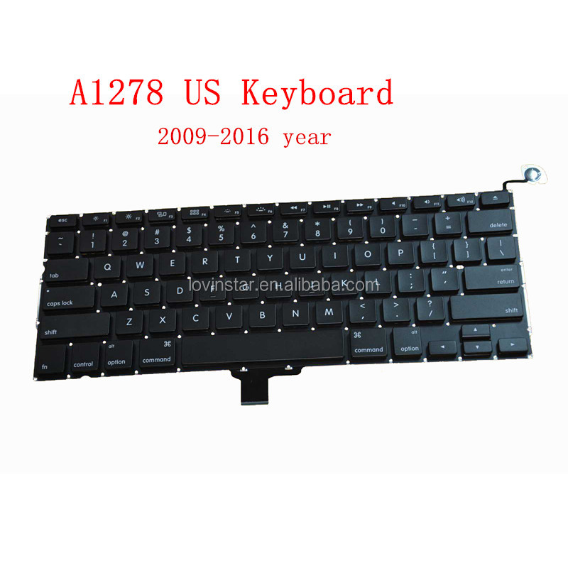 "Professional US A1278 Keyboard Replacement For Apple Macbook Pro 13"" A1278 2009-2012"