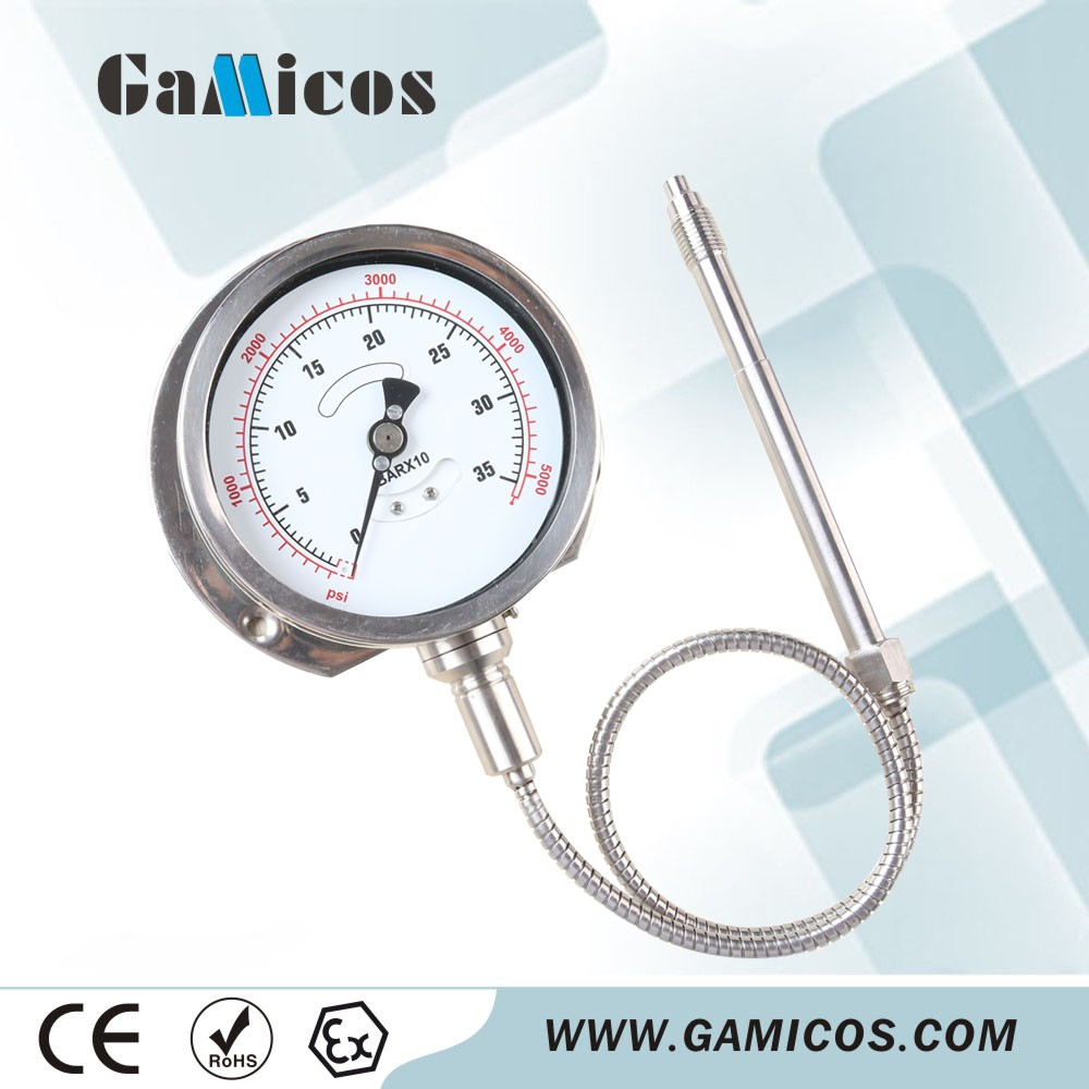 Stainless steel High Temperature Pressure Gauge