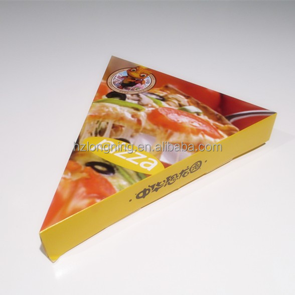customized food grade triangle pizza box