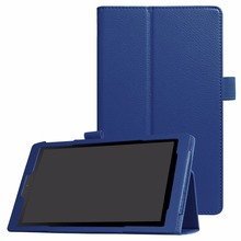 "Flip PU leather cover stand case for 2017 All-New Fire HD 8 Tablet with Alexa, 8"" HD Display"