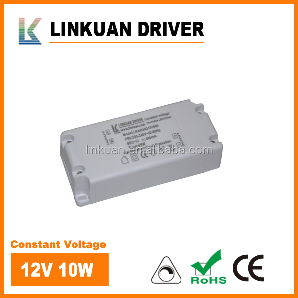 CE-TUV approved constant voltage dimmable 6w led driver