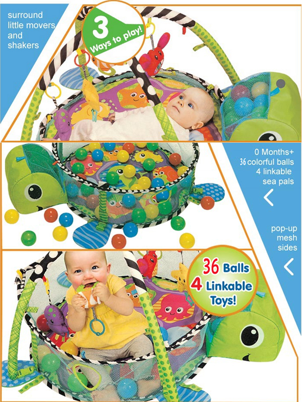 36 PCS colorful ball baby Turtle play mat toy for baby 0-3 years