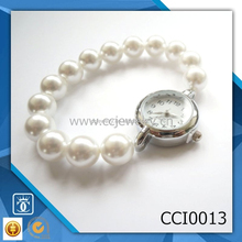 china supplier 2015 new fashion vogue pearl ladies watch bracelet CCI0013