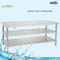 Stainless Steel Kitchen Work Table without Backsplash