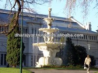 yellow big statue fountains Hand Carved Marble Yard Fountains With Nude Lady And Boy Statues
