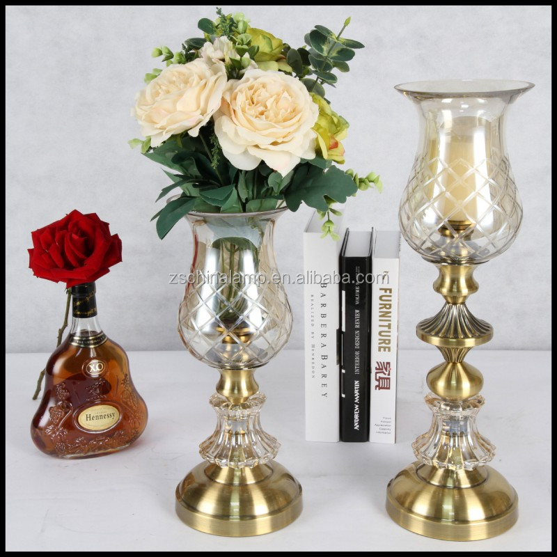 Customized Metal Mini Candle Holder With Tall Stand For Country Home Decor And Crystal Souvenir