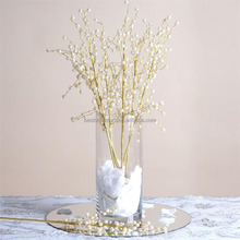 "23"" Tall Wired Stems Pearl Beaded SPRAYS For Wedding Party Crafts DIY Centerpieces"