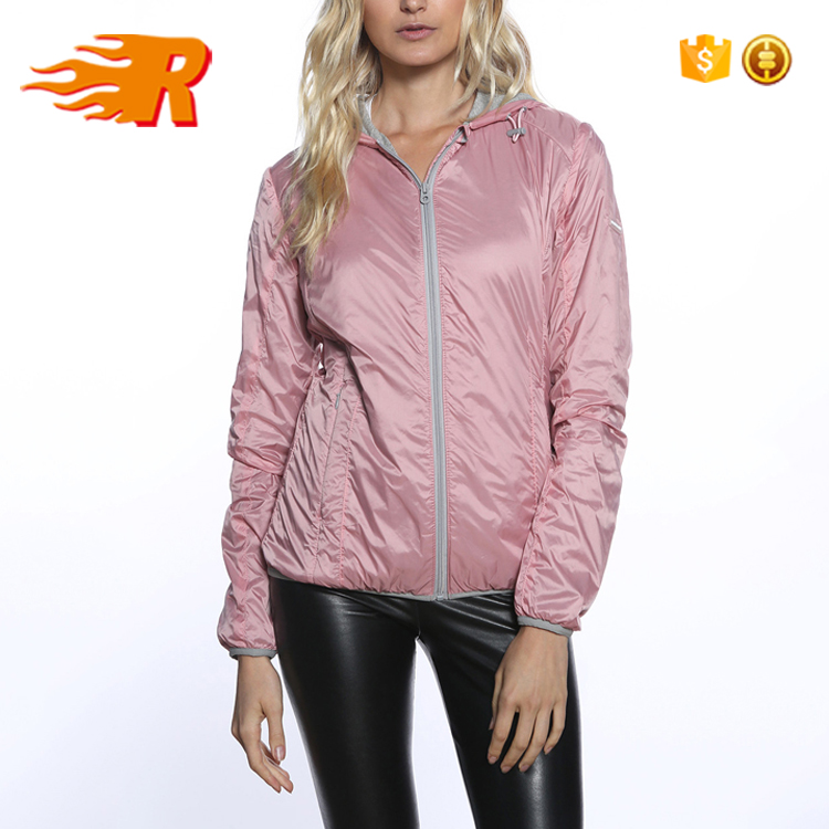 Wholesale Fashion Blank Hooded Windbreaker Coaches Jacket Women