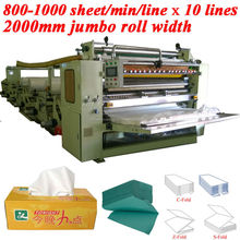 Italy Design Embossing Laminating Printing High Speed Automatic Interfolding Tissue Paper Machines