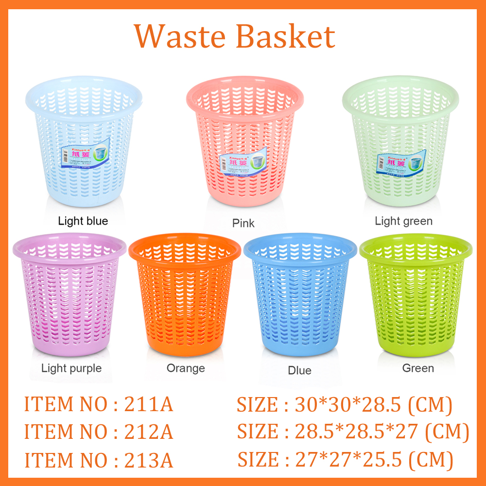 2016 Good quality plastic waste basket office paper basket small paper baskets