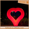 popular portable led light inflatable heart shape arches for wedding decoration