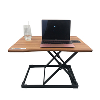Standing Desk Laptop Desk Converter Ergonomic Control Adjustable Rolling Laptop Table