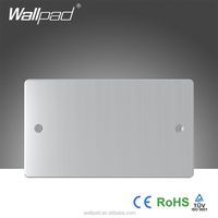 New Design Wallpad Metal Face Wall Switch Double Blank Plate