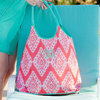 Wholesale Handmade Coral Cove Monogram Beach Bag Monogram Lake Tote