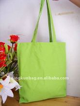 2011 HOT SALE Green Eco-friendly recyclable cotton canvas bag