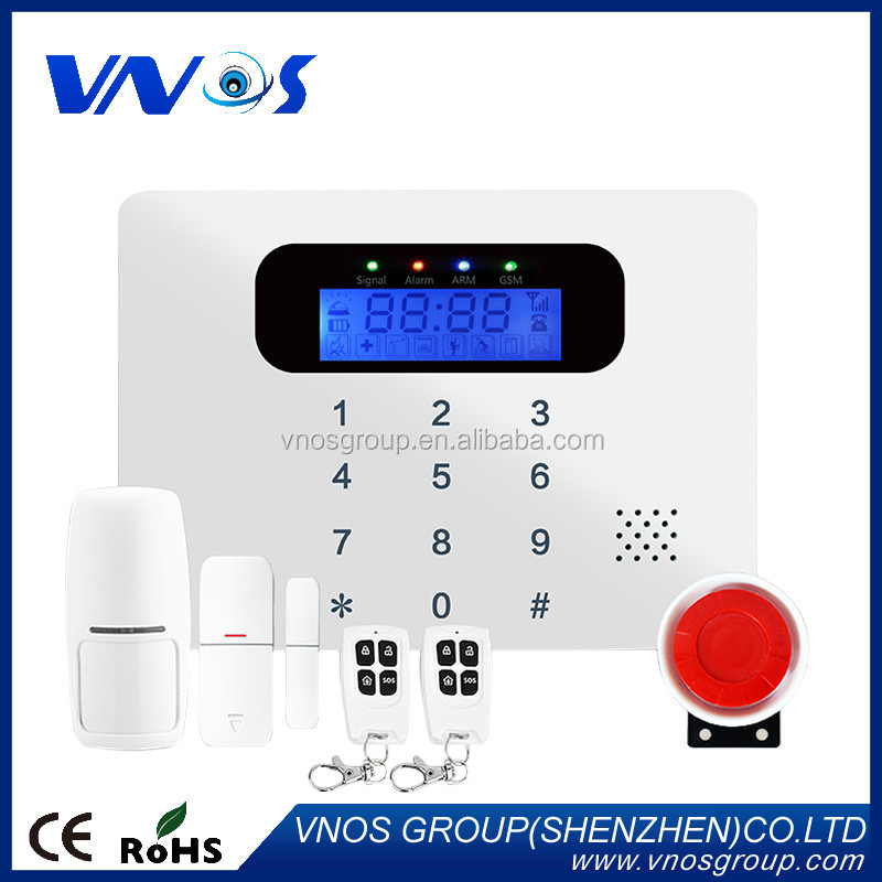 Popular 99 zones LCD GSM alarm home security alarm system, VS-GSM30C gsm alarm security wireless