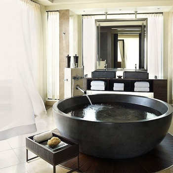 Low Price Freestanding Black Color European Bathtubs
