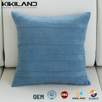 fake suede car cushion covers pleated stripe cushion covers decorative pillows