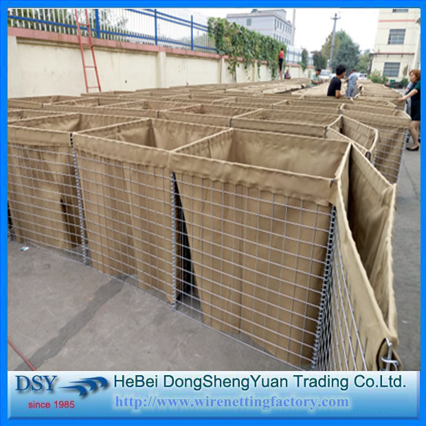 direct factory anti-explosion military sand wall hesco barrier could be printed HESCO