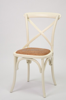 Rattan seat Antique Cross Back Dining Chair/Wedding Chair(CH-532)