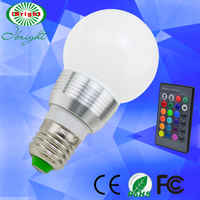 3w rgb mini color temperature adjustable led bulb light lamps