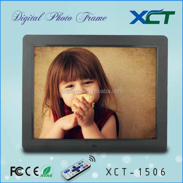 China suppliers hot sale promotion gifts lcd led 15 inch digital photo album XCT-1506