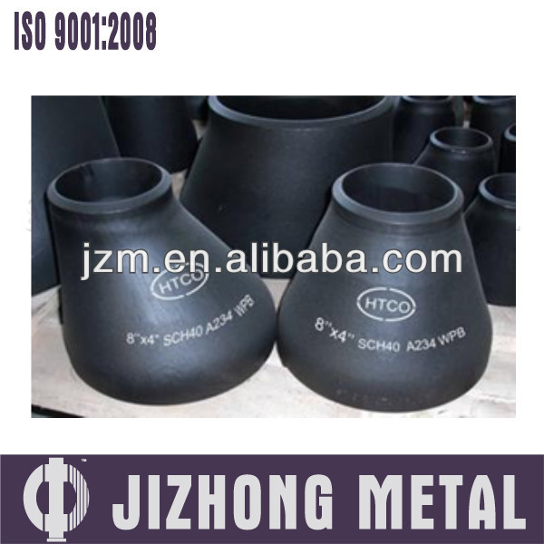 china supplier black reducer butt welded fitting