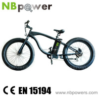 2016 Newest 26'' 48V 500W Beach Cruiser Electric Bicycle for Man