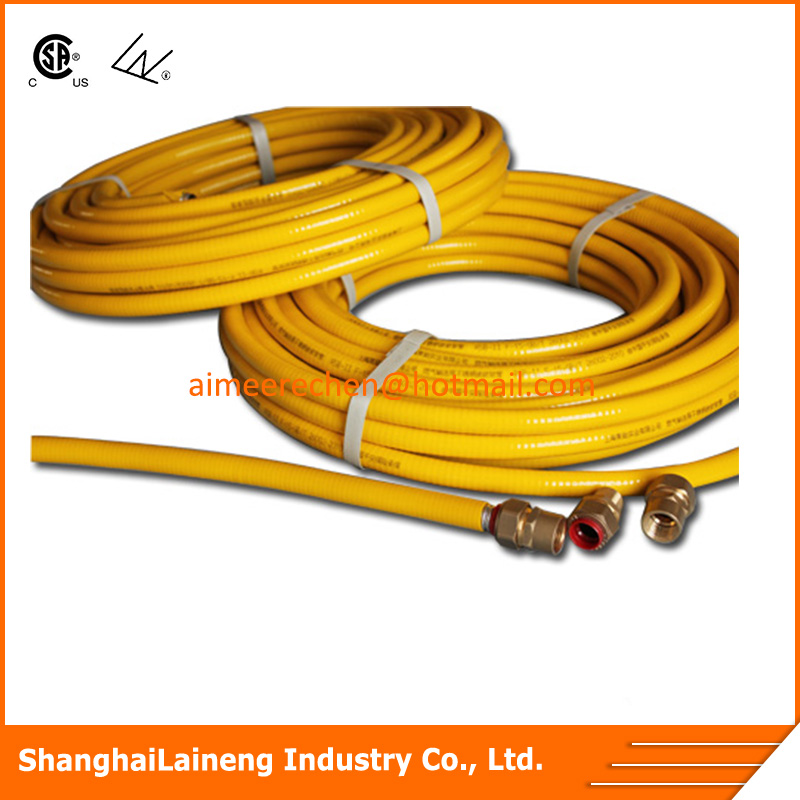 PVC PE coat CSST gas pipe tube hose connector