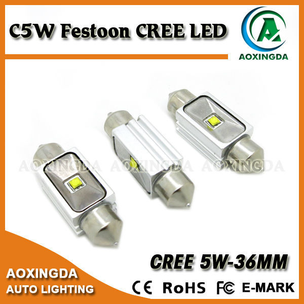 2015 hot-selling Festoon 36mm CREE XBD 5W LED dome light