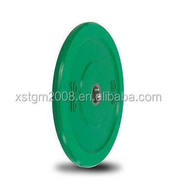 green barbell pad crossfit barbell color rubber weight plates