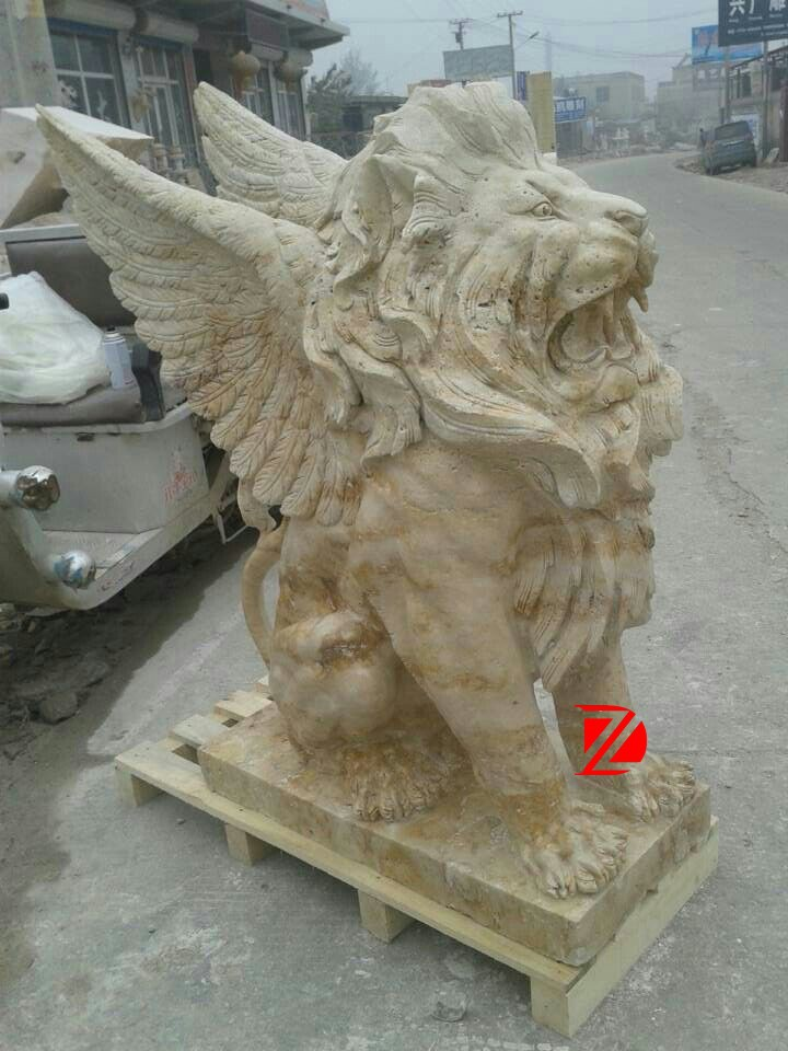 Marble Famous Fly Lion Sculptures